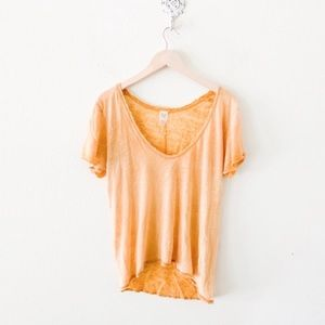 new✨ free people saturday tee yellow